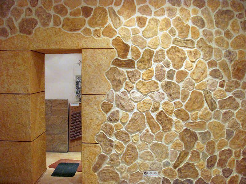 Штукатурка стен под камень своими руками внутренняя отделка видео
